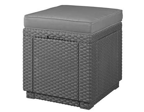 Koll living sgabello cubic xl in grigio antracite inclusocuscino