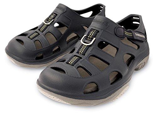 (SHIMANO Evair Marine Fishing Shoes; Size 09; Navy/Gray)