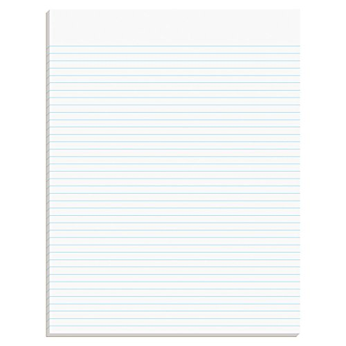 TOPS Second Nature 100% Recycled Legal Pad, 8-1/2 x 11 Inches, Gum-Top, White, Narrow Rule, 50 Sheets per Pad, 12 Pads per Pack - Glue Writing Top Pads