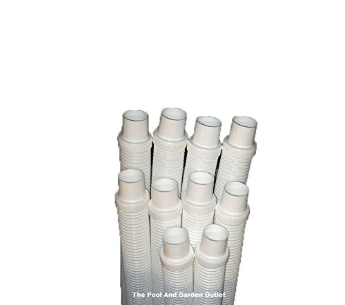 Swimming Pool Vacuum Cleaner Hose Replacement 10 x 4' White (40 feet) long Hoses