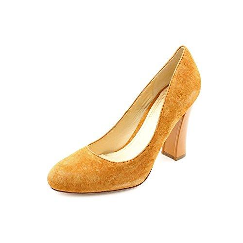 Cole Haan Chelsea.hi.flrd.heel Womens Size 9 Tan Semsket Pumper Hæler