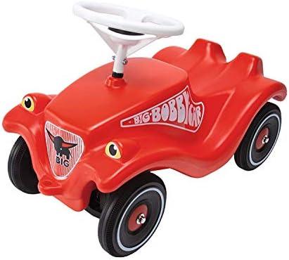 BIG - Bobby Car Classic - Kinderfahrzeug für Jungen und Mädchen, klassisches Rutschfahrzeug belastbar bis 50 kg, für Kinder ab 1 Jahr, rot