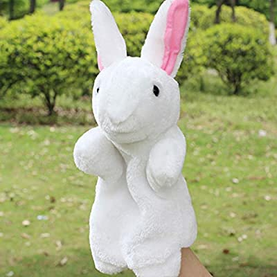 shlutesoy Cute Bunny Series Hand Puppet Plush Toys Cute Cartoon Rabbit Hand Puppet Doll: Toys & Games