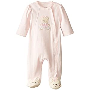 Little Me Baby Girls' Side Snap Footie
