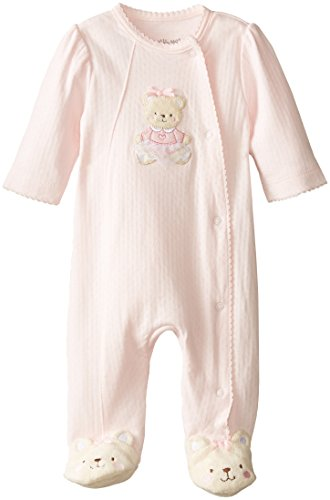 Little Me Baby-Girls Newborn Sweet Bear Footie, Light Pink, 3 Months