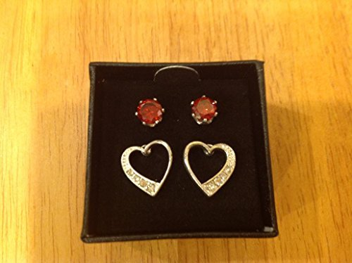- AVON CZ AND HEART STUD SET IN GIFT BOX