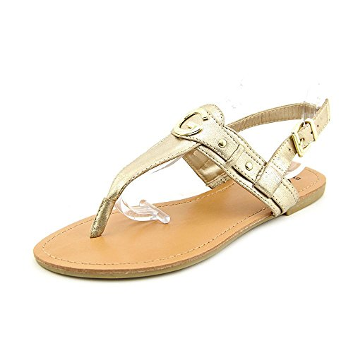 G By Guess Lundon-X Womens Size 7 Gold Open Toe Slingback Sandals Shoes