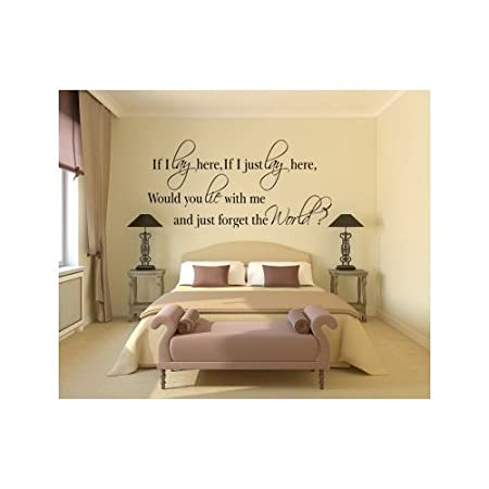 Decorative Wall Art Sticker If I Lay Here Would You Lie With Me? 3 ...
