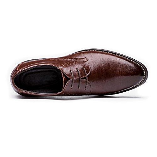 Scarpe Jiuyue Blu Dimensione traspirante uomo Vino uomo da shoes da vera in Uomo pelle da Pelle Color 42 lavoro Scarpe Stringate Oxford 2018 EU 4r4HRZF