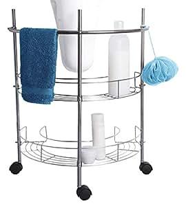 Homestyle 88448de lavabo unterregal, metal, cromo, 56x 10.0x 35.0cm