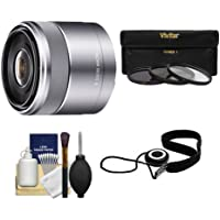 Sony Alpha NEX E-Mount E 30mm f/3.5 Macro Lens with 3 UV/FLD/PL Filters Kit for A7, A7R, A7S Mark II, A5100, A6000, A6300 Cameras