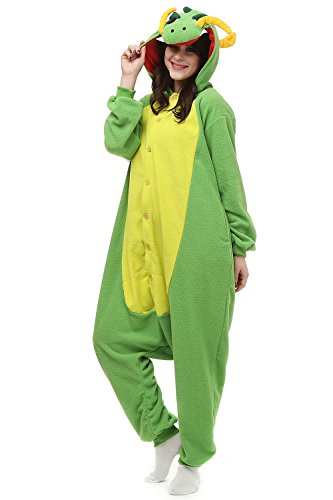 Women & Men Kigurumi Pajamas Chinese Dragon Onesie Halloween Costumes Sleeping Wear For Adults S
