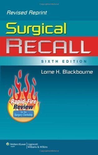 Surgical Recall, 6th Edition (Recall Series) by Blackbourne MD FACS, Lorne H. 6th (sixth), North America (2011) Paperback by Lippincott Williams & Wilkins