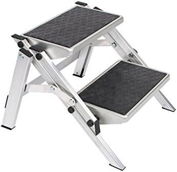 Escalera plegable de aluminio resistente con 2 niveles plegable. • klapptritt peldaño para caravanas Escaleras escalón – Escalera plegable: Amazon.es: Deportes y aire libre