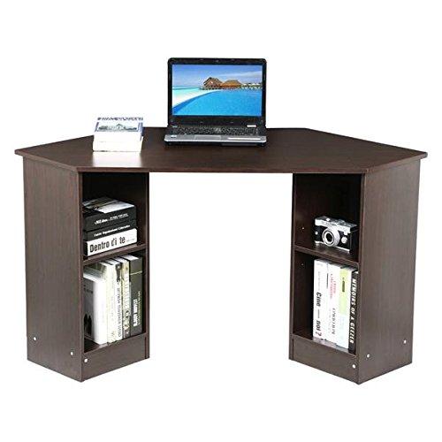 Yaheetech Corner Computer Desk Brown 28.7'' H Yaheetech
