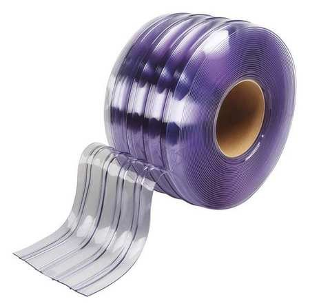 Flexible Bulk Roll, Ribbed, 8in, Clear