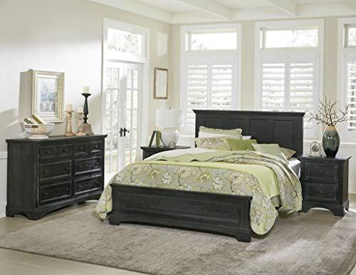 INSPIRED by Bassett BP-4200-214B Farmhouse Basics Queen Bedroom Set, Rustic Black