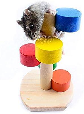 KOBWA Hamster Toys, Escalera de Madera Juguete para hámster pequeño, Hielo y cobaya.: Amazon.es: Productos para mascotas