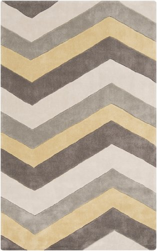 Amazon.com: 2 x 3 Vogue Chevron Grey, mantequilla amarillo ...