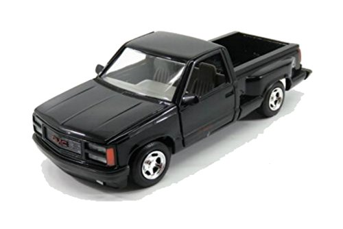 1992 GMC Sierra GT Black Pickup Truck 1/24 Diecast Model by Motormax 73204