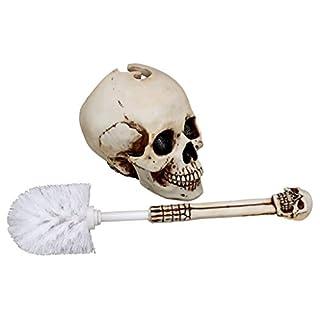 Skull Head Toilet Brush Set - set 1