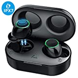 Bluetooth Earbuds, Mpow IPX7 waterproof HD Stereo Hi-Fi Sound 5.0 Wireless Earbuds, 21H