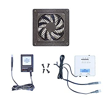 Home Theater Or Computer Cabinet Cooling Fan With Thermostat Multi Speed Control
