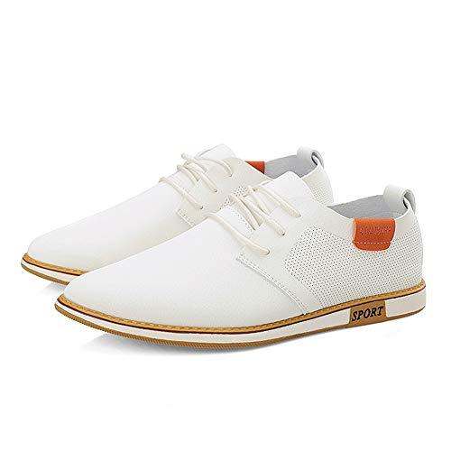Blanco Color británicos Oxford 41 Fang Redondos del Negocio EU Zapatos de Hombres de tamaño Estilo Zapatos shoes los Casuales Negro Formales Respirables del 2018 Hombre UwBwYHqx4S