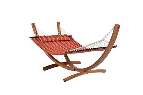 Mentoriend Greenland limb hammock stand,Outdoor Garden patio hammock, wood frame with pillow,KD