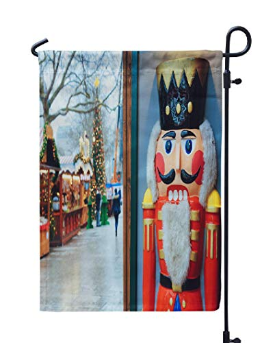 Soopat Nutcracker Seasonal Flag, Christmas Market Winter for sale  Delivered anywhere in USA