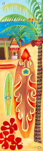 - Oopsy Daisy, Fine Art For Kids PE2907 Growth Chart Surf Growth Chart