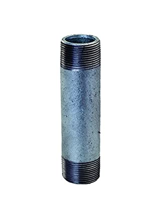 "Everflow Supplies NPGL1280 8"" Long Galvanized Steel Nipple Pipe Fitting with 1/2 Nominal Size Diameter"
