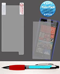 Bloutina Accessory Factory(TM) Bundle (the item, 2in1 Stylus Point Pen) HTC 6990LVW (Windows 8X) Screen Protector Twin...