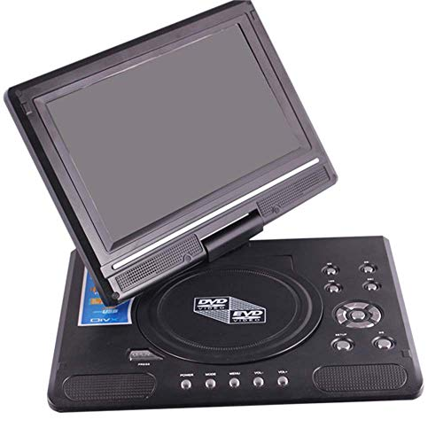 LAIWUSSY Portable Mobile DVD with Mini TV HD Player and Rechargeable Battery, 270°Swivel Screen, SD Card Slot and Rapid USB Port, Support Game and TV Functions, Compatible with Multiple Discs and JPG ()