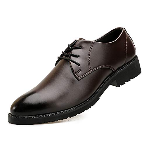 Negro Zapatos EU Atractivos Suaves 40 Oxford clásicos tamaño los Acentuados Jusheng Marrón Negocio Formales Lujo de Color de cómodos Hombres de avUHdxq
