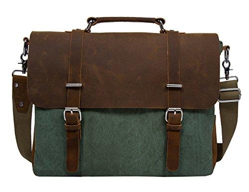 ECOSUSI Vintage Canvas Leather 14.7