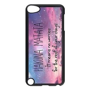Beautiful Sky Hakuna Matata For IPod Touch 5th Black or White Durable Plastic Case-Creative New Life