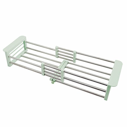 simpletome Sink Drying Rack Extendable Stainless Steel Cups
