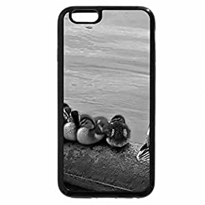 iPhone 6S Plus Case, iPhone 6 Plus Case (Black & White) - feather water duck row funny ducklings bird cute family