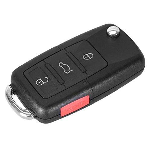 New 4 Buttons Flip Remote Entry Key Case For VW Volkswagen Jetta Passat Golf Beetle Rabbit GTI CC EOS No Chips Inside (Vw Jetta Passat Golf)
