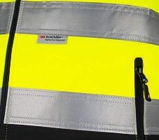 Giacca a Vento e Impermeabile XL Nitras Giacca Motion Tex Viz ad Alta visibilità Giacca da Lavoro con Rifinitura Riflettente 3M