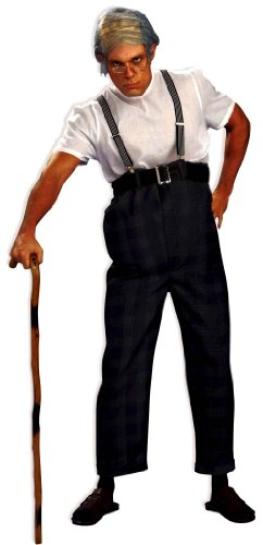 Forum Novelties Men's Uncle Bert Old Man Adult Costume, Multicolor, (Old Man Halloween Costume)