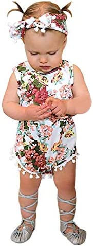 Toddler Baby Girls Kids Floral Princess Dress Party Dresses Headband Outfits Set