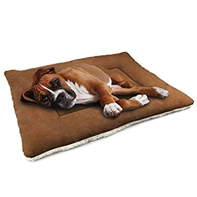 Dogjog Pet Bed for Dogs & Cats Kennel Mat and Crate Mattress Washable Mat Comfortable Pad for Pet