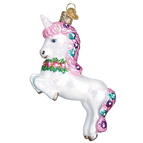 - Magical Prancing Unicorn Hanging Christmas Ornament