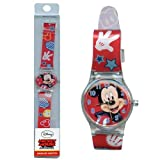Mickey Analog Watch with printed Band in Long PVC Box