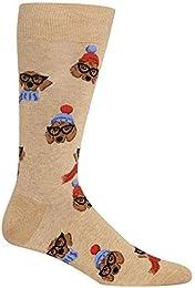 HotSox Mens Dressed Dogs Socks 1 Pair Mens Shoe 6-12.5