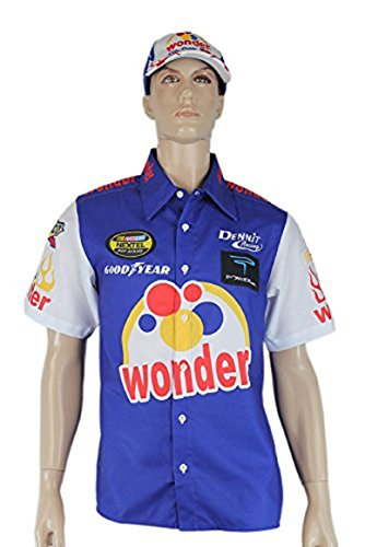 costumebase Ricky Bobby NASCAR Shirt Talladega Nights Crew + #26 Wonder Bread Cap Hat (XL)