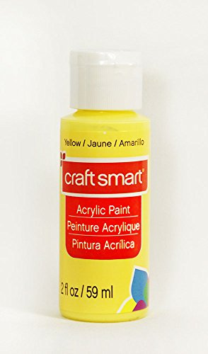 Craft Smart Acrylic Paint 2 Fl.oz. 1 Bottle Yellow
