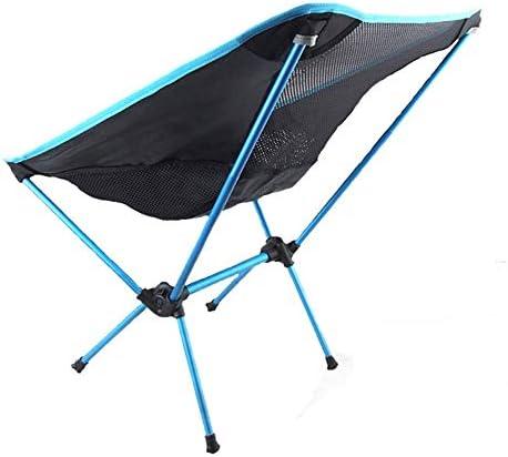 Outdoor draagbare Klapstoel Leisure Kruk Portable Lichtgewicht Camping Chair, Strand Kruk Stoel van de tuin voor Picnic BBQ camping wandelen,Blue